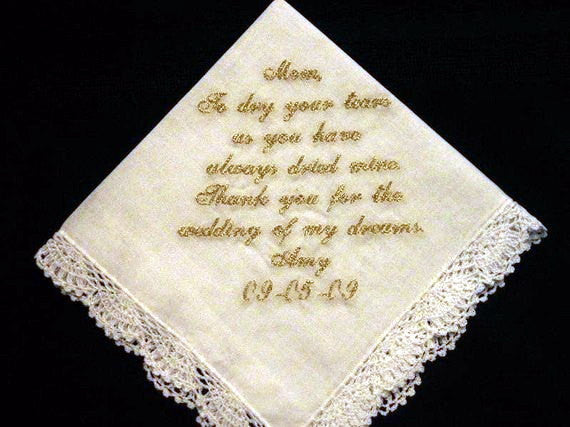 Wedding Hanky with Gold Metalic Thread with Gift Box 18S
