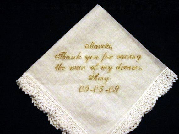 Wedding Handkerchief with Gold Metalic Thread with Gift Box 33S