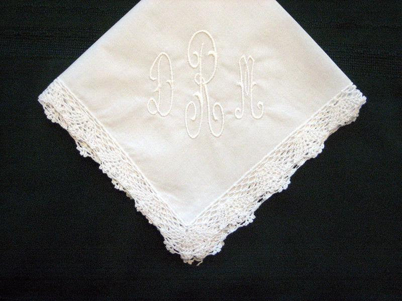 Classic  Monogrammed Hanky with Gift Box