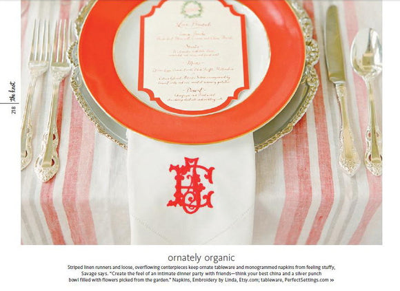 Personalized Wedding Napkins as seen in the Knot magazine. FREE shipping in US.