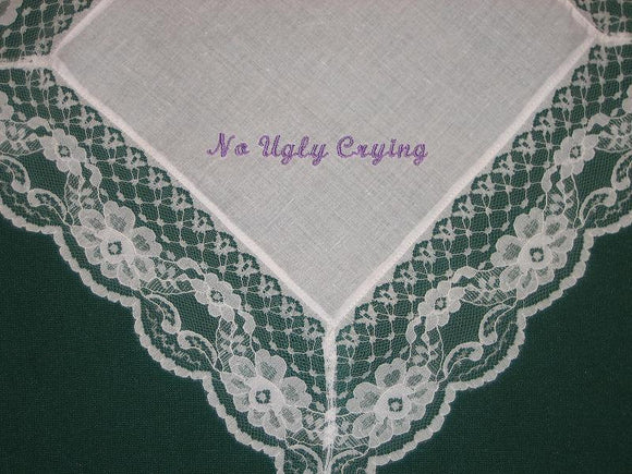 No Ugly Crying Wedding handkerchief 176S with FREE gift box and Free shipping in the US