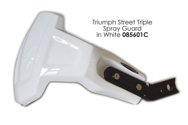 Triumph Daytona 675 2013-2017 White Rear Wheel Spray Guard Lightweight Pyramid
