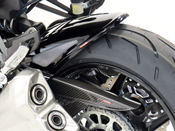 Kawasaki Z1000R  17-2019  Rear Hugger by Powerbronze Carbon Look & Silver Mesh.