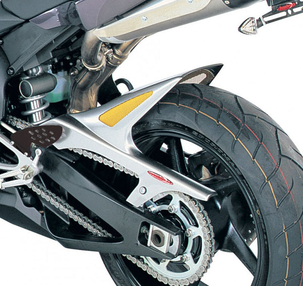 Yamaha YZF-R1 04-2006  Rear Hugger by Powerbronze Carbon Look & Silver Mesh