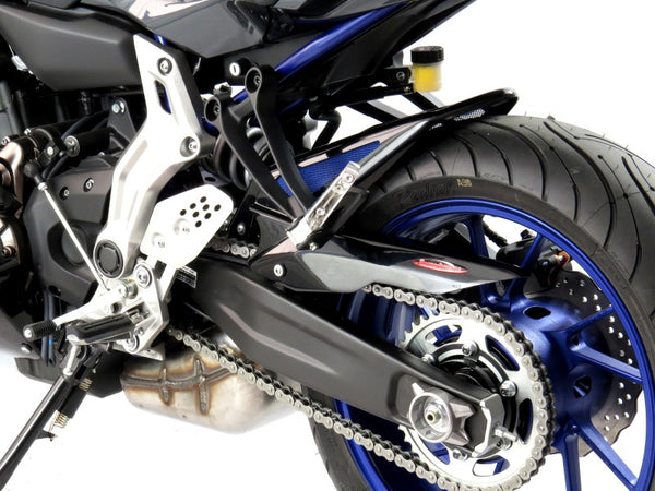 Yamaha XSR 700 2016-2019 Rear Hugger by Powerbronze Carbon Look & Silver Mesh