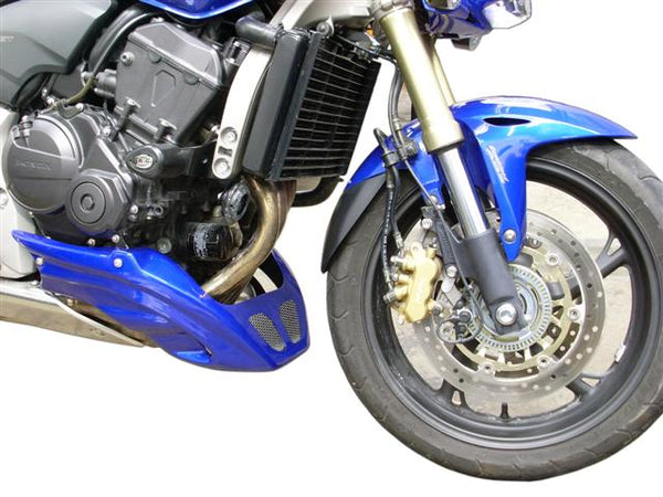Honda CB600F Hornet  07-2012 Pearl Fiji Blue GRP Belly Pan by Pyramid