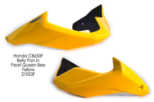 Honda CB650F 2014 > Queen Bee Yellow Finish GRP Belly Pan by Pyramid