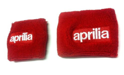 Aprilia Red Motorcycle Front & Rear Brake Master Cylinder Shrouds Socks Cover