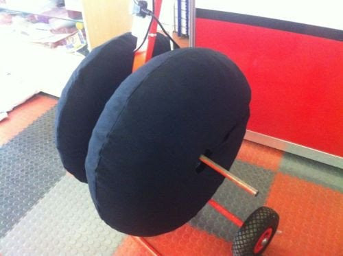 Large Black Tyre Blankets Fleece Covers Tyre Warmers