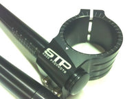 50mm STP Tek2 Calibrated road race black anodised Clip-Ons handlebars