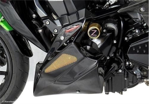 Kawasaki Z750  04-11 Z750S/R 11-2012 & Z1000 07-2009 Belly Pan Carbon Look with Gold Mesh