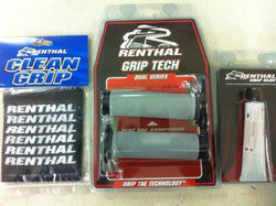 Renthal Thick Road Race Dual Compound Grips,Glue & Covers (32mm dia) G176/G182/101