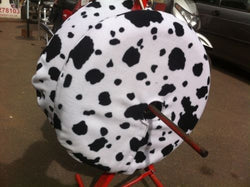 Large Mad Cow Print Polar Fleece Tyre Blankets Tyre Covers