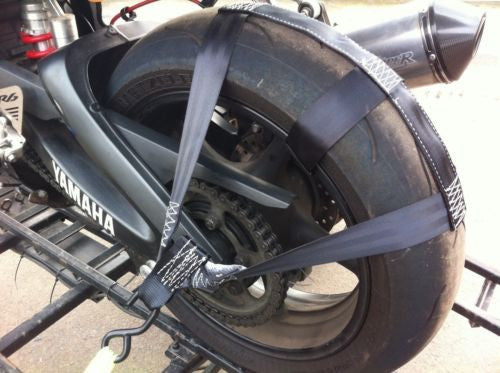 Secure Motorbike Transport,Tie-Down Rear Wheel Strap Strong Polyester webbing