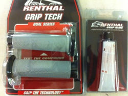 Renthal Thick Road Race Dual Compound Grips & Glue, (32mm dia) G176/G101