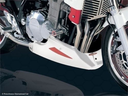 Honda CB1300 2003-2007 ABS Plastic Belly Pan White & Silver Mesh by Powerbronze.