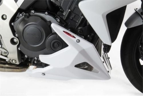 Honda CB1000R   2008-2017  Belly Pan  Gloss Black with Silver  Mesh by powerbronze.