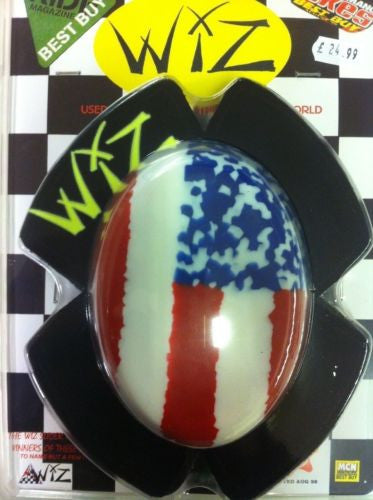 Motorcycle Knee sliders by Wiz Racing   United States of America sliders (pair)
