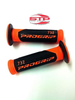 Progrip Superbike 732 Flouro Orange-Black Dual Compound Grips 125mm