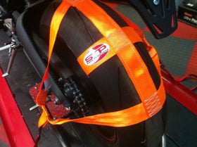 Motorbike Transport Tie Down Wheel Strap  Polyester webbing Strap ORANGE BSB