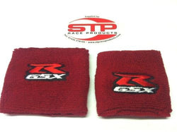 Suzuki GSX-R,Red, Motorcycle Front & Rear Brake Reservoir Shrouds, Socks, Cover