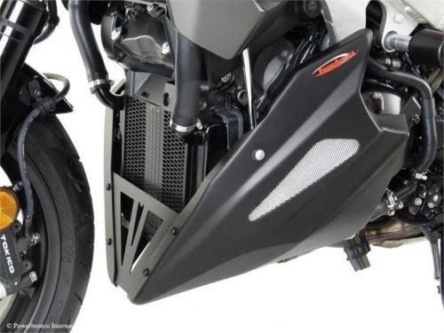 Honda VFR800X Crossrunner  15-2020 Belly Pan  Matt Black with Silver Mesh  Powerbronze.