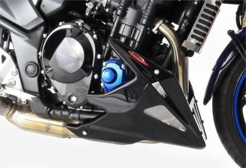 Suzuki GSF1250 & 1250S Bandit 07-16 (watercooled only) Belly Pan Black & Silver Mesh by Powerbronze
