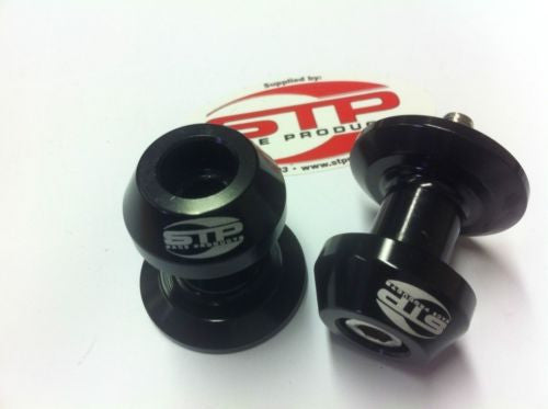 Swingarm Spools Bobbin M8/8mm Black Anodised CNC Machined Race Track BSB WSB