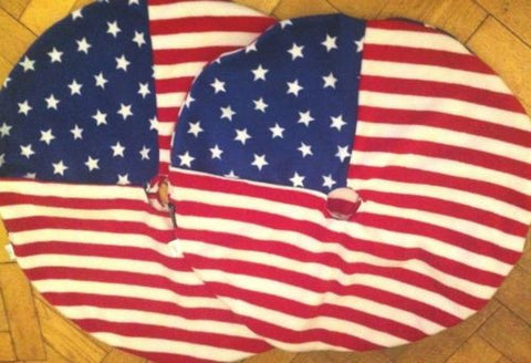 Large Stars & Stripes Polar Fleece motorbike Tyre Blankets