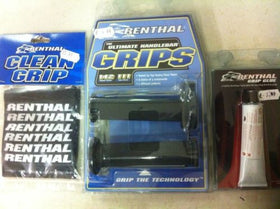 Renthal Road Race Grips,Clean Grip & Glue, Full Diamond Medium Compound G148
