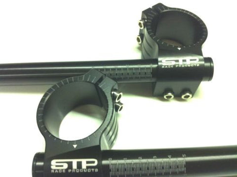 45mm STP Tek2 Calibrated road race black anodised Clip-Ons handlebars