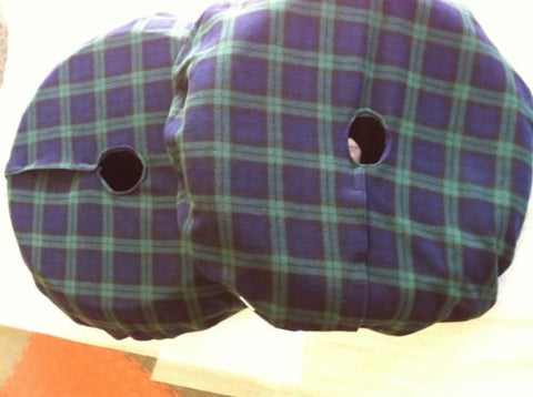 Large Tartan  Motorcycle Tyre Blankets,Fleece Covers,Tyre Warmers