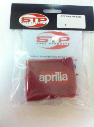 Aprilia Red Rear Brake Master Cylinder Reservoir Cover Sock Shroud