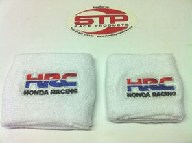 Honda Racing Motorcycle Front & Rear Brake Reservoir Shrouds Socks Cover White