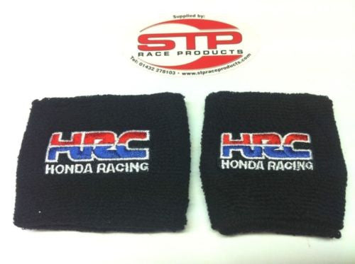 Honda Racing Motorcycle Front & Rear Brake Reservoir Shrouds Socks Cover