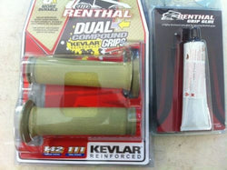 Renthal Thick Road Race Kevlar Dual Compound Grips (32mm)  & Glue  G177/G101 BSB