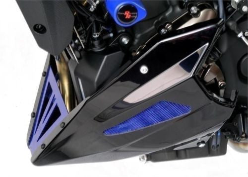 Yamaha MT-07 / FZ-07 & XSR 700 14-2019  Belly Pan Black Finish with Silver Mesh by Powerbronze