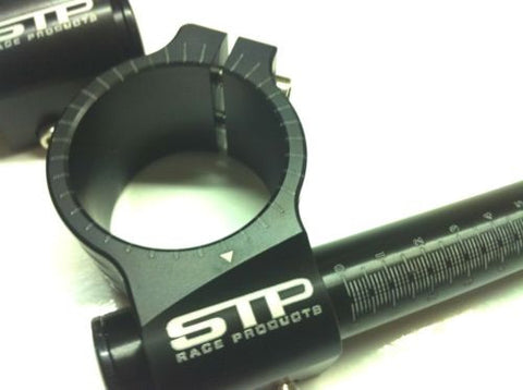 41mm STP Tek2 Calibrated road race black anodised Clip-Ons handlebars.