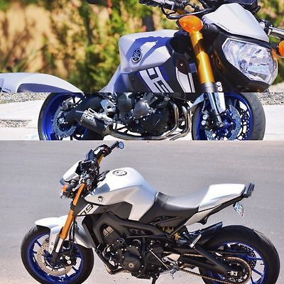 Yamaha MT09 & FZ09 13-2016 Solo Seat Cowl Matt Silver Finish by Pyramid