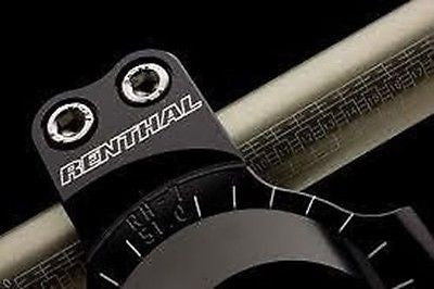 Renthal 48mm Road Race Clip-Ons Black Anodised fits all bikes with 48mm forks