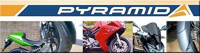 Aprilia Futura all years Rear  Hugger Gloss Black Finish by Pyramid Plastics
