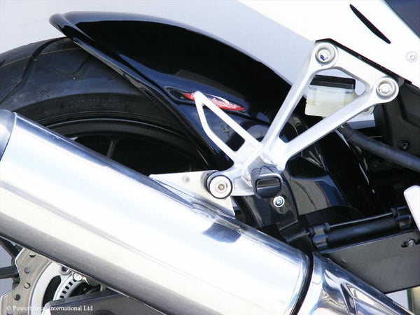 Honda CBR500R   2013-2018  Rear Hugger by Powerbronze Matt Black & Silver.