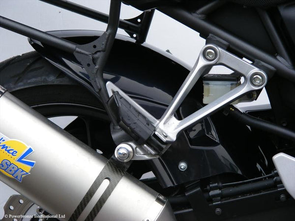 Honda CB500 F&X   2013-2018  Rear Hugger by Powerbronze Matt Black & Silver