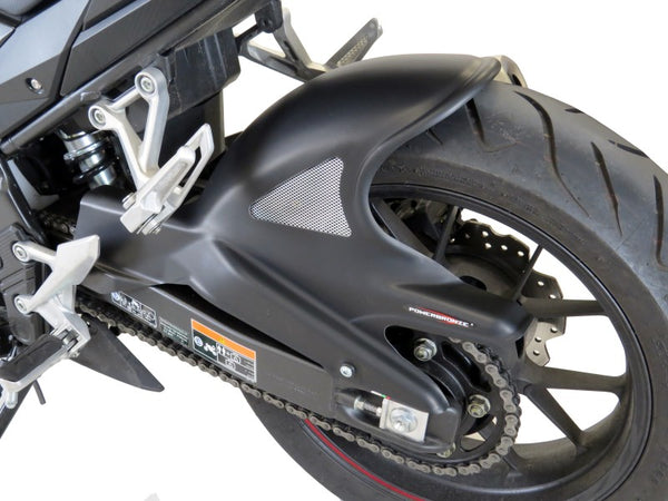 Honda CBR500R  2019 >  Rear Hugger by Powerbronze Carbon Look & Silver.
