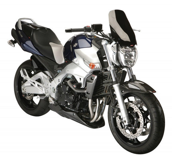 Suzuki GSR600  2006-2011 Rear Hugger by Powerbronze Matt Black & Silver Mesh.