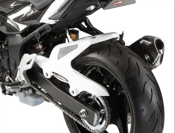 Suzuki GSR750 11-16 & GSX-S 15-16  Rear Hugger by Powerbronze Carbon Look & Silver Mesh
