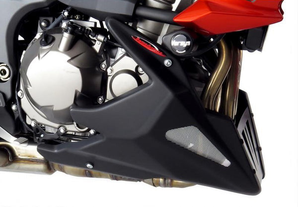 Kawasaki Versys 1000   2012-2018 Belly Pan  Gloss Black with Silver Mesh by Powerbronze