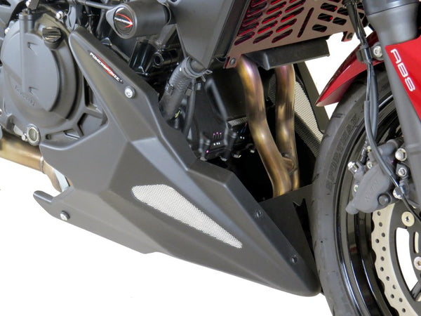 Kawasaki Z400   2019 >  Belly Pan Matt Black with Silver Mesh by Powerbronze