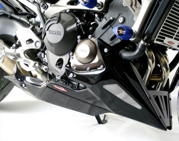 Yamaha MT-09 & FZ-09 (not Tracer) 2013-2016 Belly Pan Matt Black Finish with Silver Mesh Powerbronze