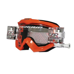 Progrip MX Motocross Race Line Goggle with RNRXL-36mm Roll Off System Orange